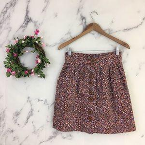Elevenses Anthropologie Confetti Velvet Skirt.